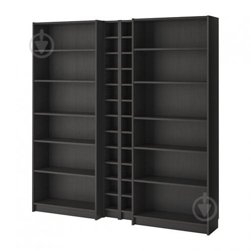 Стеллаж IKEA BILLY / GNEDBY 200x202x28 см Черно-коричневый (990.204.76) - фото 1