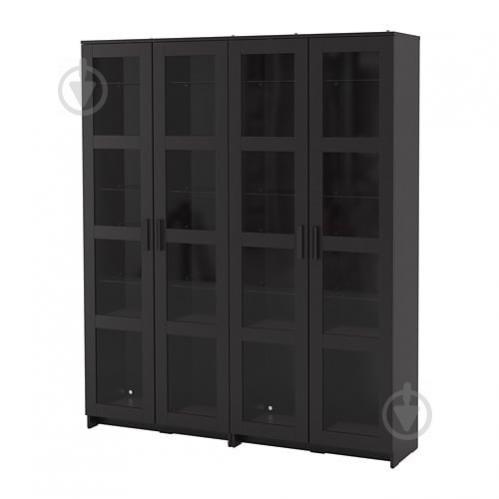 Стеллаж IKEA BRIMNES 160x35x190 см Черный (192.782.34) - фото 1