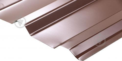 Профнастил глянцевий СТАЛЕКС ПС-18 Б 0,3х1150x2000 мм RAL 8017 коричневий - фото 3