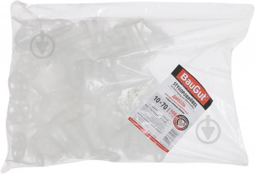 Дюбель для теплоизоляции с пластиковым гвоздем 10x70 мм 100 шт BauGut - фото 2