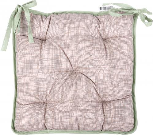 Подушка на стул Гортензия 40х40 см голубая La Nuit - фото 3