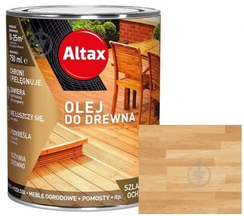 Масло для древесины Altax бесцветный полумат 0,75 л - фото 1