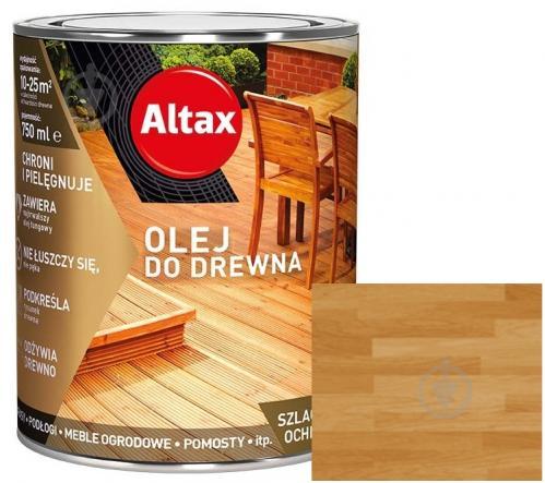 Масло для древесины Altax дуб полумат 0,75 л - фото 1