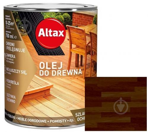 Масло для древесины Altax палисандр английский полумат 0,75 л - фото 1