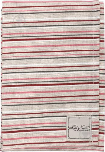 Рушник кухонний Вінтаж Смужки 45x65 см La Nuit бежевий із червоним - фото 2