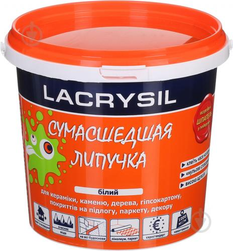 Клей универсальный монтажный Lacrysil Сумасшедшая липучка 1,2 кг