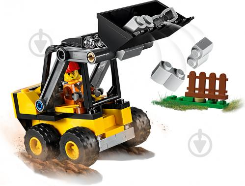 Конструктор LEGO City Строительный погрузчик 60219 - фото 5