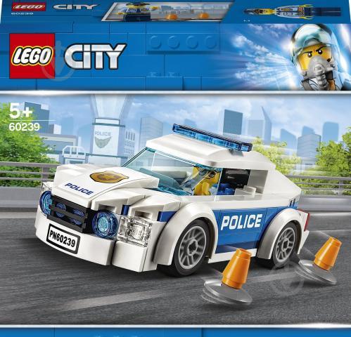Конструктор LEGO City Поліцейське патрульне авто 60239 - фото 1