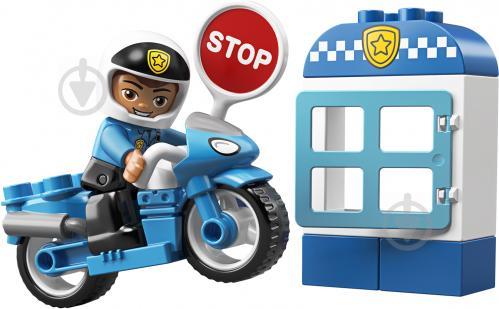 Конструктор LEGO Duplo Поліцейський мотоцикл 10900 - фото 2