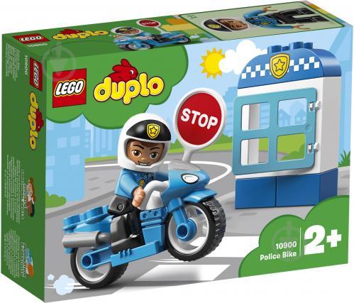 Конструктор LEGO Duplo Поліцейський мотоцикл 10900 - фото 1