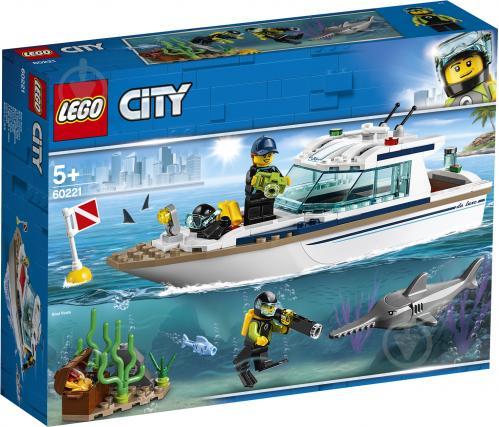 Конструктор LEGO City Яхта для дайвінгу 60221 - фото 1