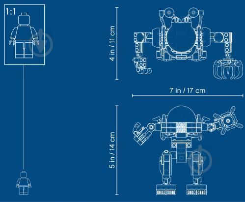Конструктор LEGO Creator Підводний робот 31090 - фото 7