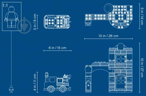 Конструктор LEGO Duplo Пожежне депо 10903 - фото 43