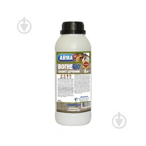 Огнебиозащита ARMA 12R для древесины Готовый раствор 1 л - фото 1
