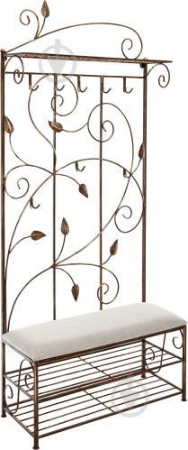 Вешалка для одежды Метал Арт 40511089 пристенная Мимоза коричневый - фото 1