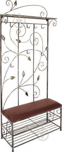 Вешалка для одежды Метал Арт 40511090 пристенная Мимоза черный - фото 1