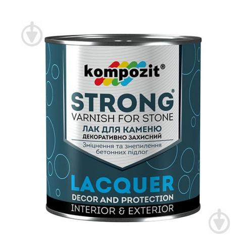 Лак для каменю STRONG Kompozit глянець 2,7 л - фото 1