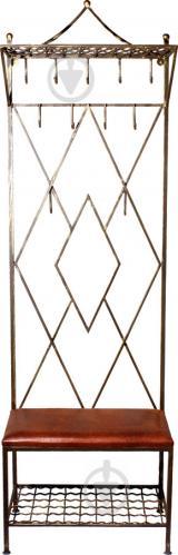 Вешалка для одежды Метал Арт 40511040 Ромб коричневый - фото 1