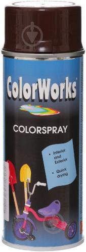 Эмаль аэрозольная RAL 8017 ColorWorks шоколадно-коричневый 400 мл