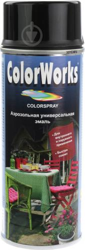 Эмаль аэрозольная RAL 9005 ColorWorks черный 400 мл