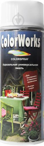 Эмаль аэрозольная RAL 9010 ColorWorks белый 400 мл