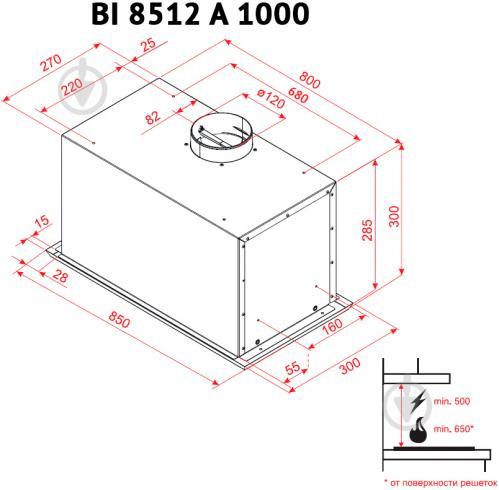 Витяжка Perfelli BI 8522 A 1000 I LED - фото 6
