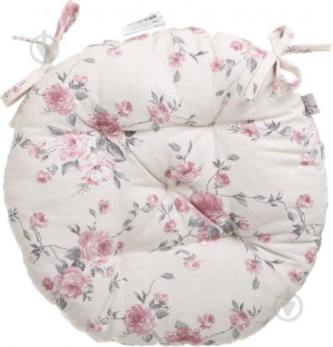 Подушка на стілець Троянди кругла D 40 Прованс
