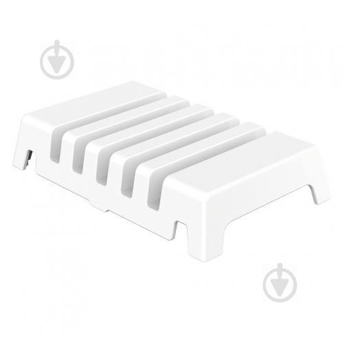 Универсальная настольная подставка держатель для телефонов и планшетов на 5 слотов Orico DK305 Белая - фото 1