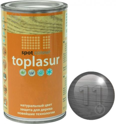 Лазурь Spot Colour Toplasur №11 дуб мореный полуглянец 0,4 л - фото 1
