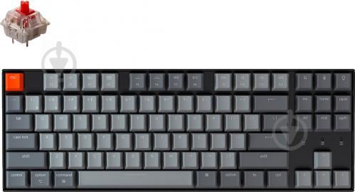 Клавіатура Keychron К8 (K8G1_KEYCHRON) Gateron RED Hot-Swap White LED black - фото 1