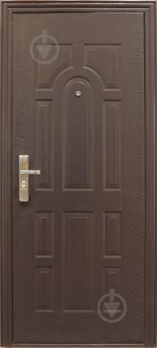 Двері вхідні Y1S37C50 коричневий 2050х960мм праві - фото 1