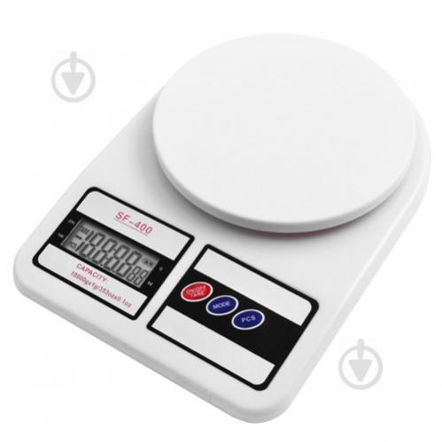 Весы кухонные электронные MHZ SF400 от 1 г до 10 кг Белый (002537) - фото 1