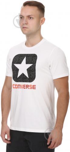 Футболка Converse Texture Boxstar Fill Tee 10003677-102 M белый - фото 2