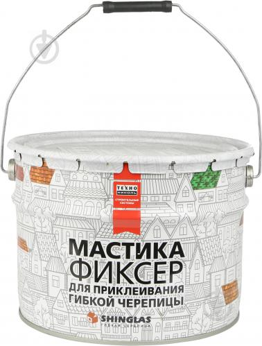Мастика для битумной черепицы ТЕХНОНИКОЛЬ №23 Фиксер 12 кг
