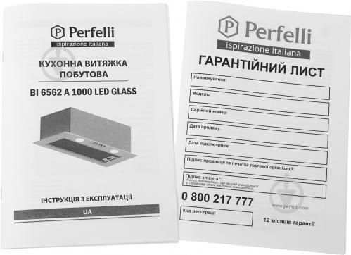 Витяжка Perfelli BI 6562 A 1000 BL LED Glass - фото 7