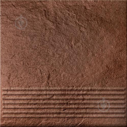 Клінкерна плитка Солар Браун ступенька структурная 30x30 Cersanit - фото 1