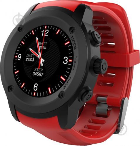ᐉ Смарт-годинник Nomi W30 black red • Краща ціна в Києві d3bb59c6e6b62