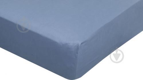Простынь на резинке Solid 160x200+30 см темно-серый La Nuit - фото 1