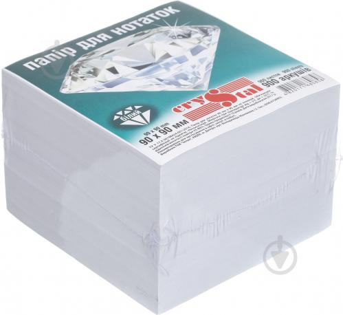 Папір для нотаток 90х90 мм 900 аркушів Crystal