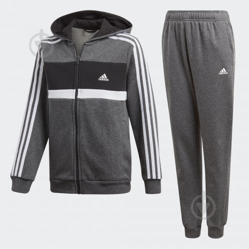 Костюм Adidas YB COTTON TS CH DN6908 р. 170 серый