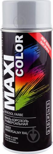 Эмаль Maxi Color аэрозольная универсальная декоративная RAL 7046 отдаленно-серый глянец 400 мл