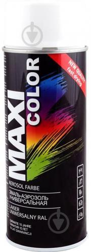 Эмаль Maxi Color аэрозольная универсальная декоративная RAL 9003 сигнальный белый мат 400 мл