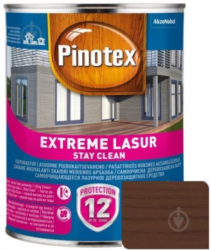 Деревозащитное средство Pinotex extreme lazure stay clean тик полумат 1 л - фото 1