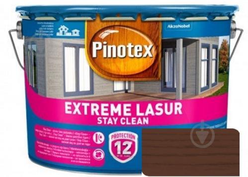 Деревозащитное средство Pinotex extreme lazure stay clean тик полумат 10 л - фото 1