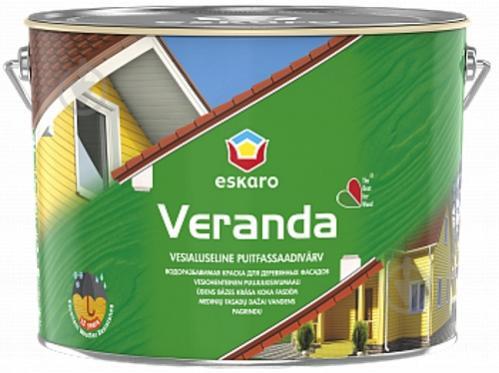 Краска Eskaro Veranda белый полумат 2,85 л - фото 1