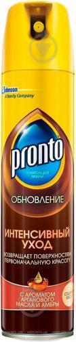 Поліроль для меблів Pronto Інтенсивний догляд з ароматом арганової олії та амбри 0,25 л - фото 1