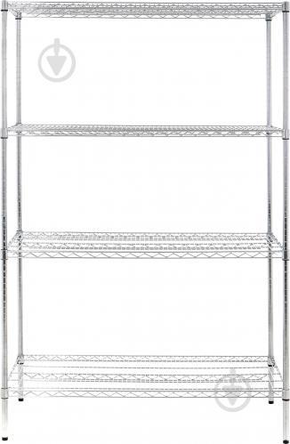 Стеллаж металлический PROзапас хромированный 1828x1219x610 мм серый (244872-4) - фото 1