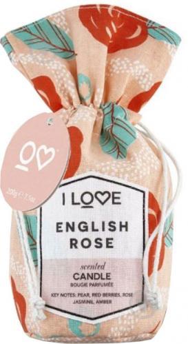 Ароматична свічка I love Англійська троянда 200 г - фото 1