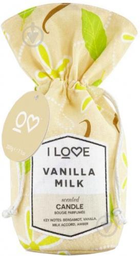 Ароматична свічка I love Ванільне молоко 200 г - фото 1
