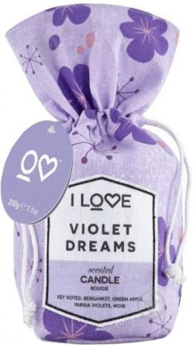 Ароматична свічка I love Фіалкові мрії 200 г - фото 1